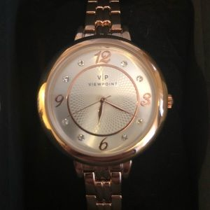NEW Viewpoint Timex Women Gold-Tone Watch Crystals